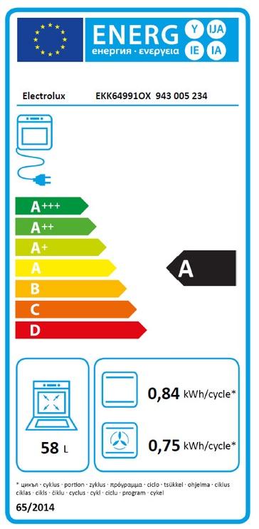 Gaasipliit elektriahjuga Electrolux EKK64991OX
