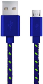 Esperanza Braided Cable USB to USB-micro Blue 1m