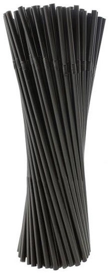 Pap Star Straws 400pcs Black