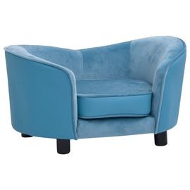Кровать для животных VLX Dog Bed, синий, 490x690 мм