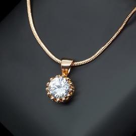 Diamond Sky Pendant Crystal Lady With Swarovski Crystals