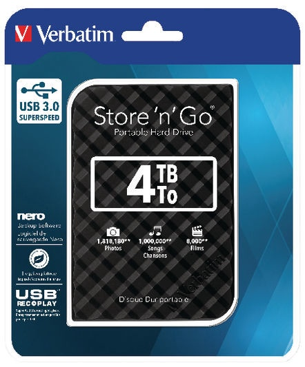 "Verbatim Store 'n' Save USB 3.0 4TB 2.5"" 53223"