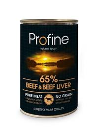 Suņu konservi Profine ar lielopu gaļu, aknām un kartupeļiem, 400g
