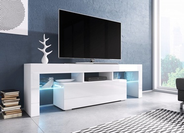 TV galds Cama Meble Toro 138 White, 1380x400x410 mm