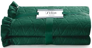 AmeliaHome Tilia Bed Coverlet Dark Green 240x260cm