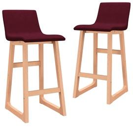 Bāra krēsls VLX Bar Stools 289405, sarkana, 2 gab.