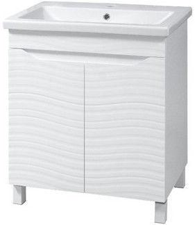 Шкаф для ванной Sanservis Atlanta-50 with Basin Como-50 White 46x80x38cm