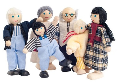 Кукла Woodyland Playing Farm Family 6pcs 90620