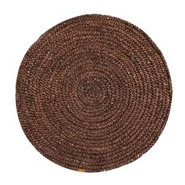Ковер Home4you Water hyacinth NATURE, коричневый, 120 см x 120 см
