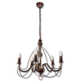 Lis Lightning Hanging Ceiling Light Avalon 5x40W Brass