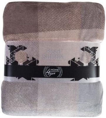 Home4you Plaid/Blanket Sherpa 130x160cm Brown-Gray 75456