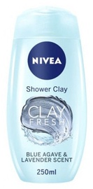 Nivea Clay Fresh Shower Clay Blue Agave & Lavender Scent 500ml