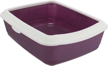 Miskaste Trixie Classic, balta/violeta, atvērts, 470x370x150 mm