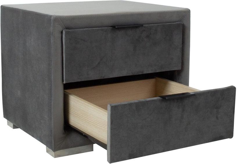 Ночной столик Home4you Levanter 28892, серый, 50x40.5x42 см