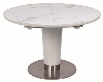 Pusdienu galds Signal Meble Helios White Matt, 1600x1200x760 mm