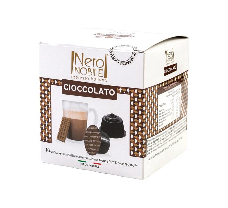 Kavos kapsulės Neronobile Soluble Chocolate, 16 vnt.