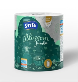 Popierinis rankšluostis Grite Blossom Jumbo, 2 sl.