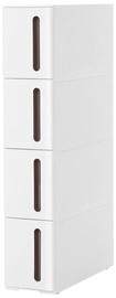 Skapis Songmics Storage Rack White 45x17x84cm