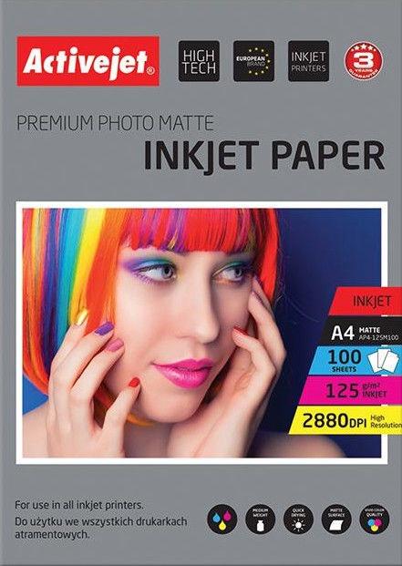 Activejet Matte A4 100 Photo Paper