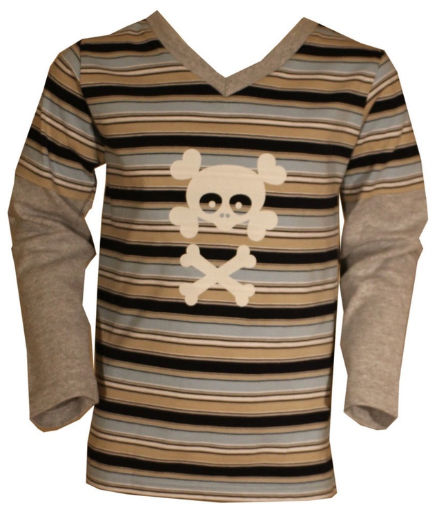 Bars Junior Long Sleeve Shirt Brown 38 158cm