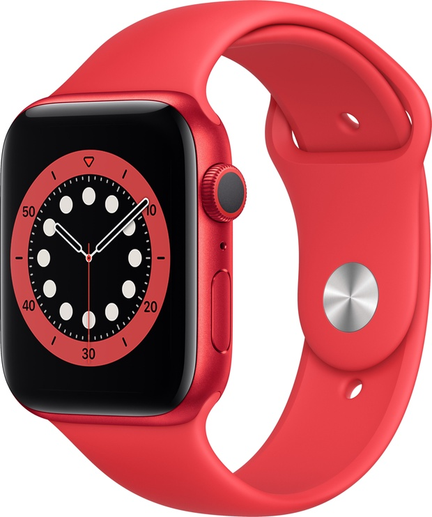 Išmanusis laikrodis Apple Watch Series 6 GPS 44mm PRODUCT(RED) Aluminum PRODUCT(RED) Sport Band