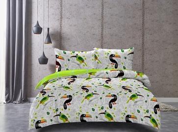 Gultas veļas komplekts DecoKing Toucan, 200x200/80x80 cm