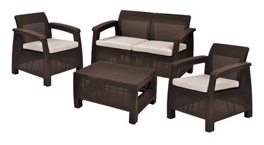 Keter Corfu Garden Lounge Set Brown