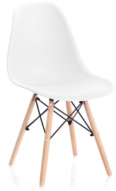 Valgomojo kėdė Homede Margot, balta, 4 vnt.