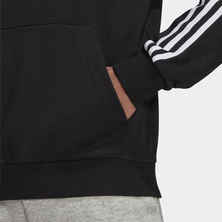 Adidas Essentials 3 Stripes Hoodie GK9062 Black L