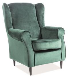 Fotelis Signal Meble Baron Green, 75x80x101 cm