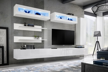 ASM Fly L2 Living Room Wall Unit Set White