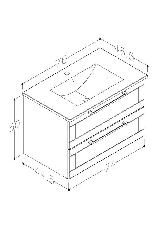 Vonios spintelė su praustuvu Raguvos baldai Serena Retro 131134114