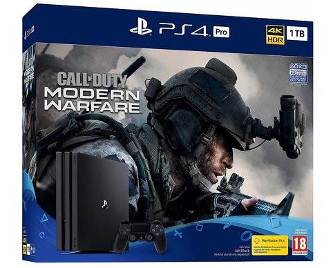 Sony PlayStation 4 (PS4) Pro 1TB Black + Call of Duty: Modern Warfare
