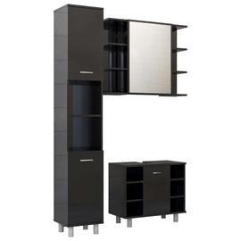 Комплект мебели для ванной VLX 3056959, черный