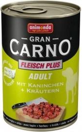 Влажный корм для собак (консервы) Animonda GranCarno Rabbit Meat 400g