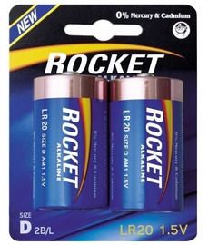 Rocket LR20-2BB D Batteries 2x