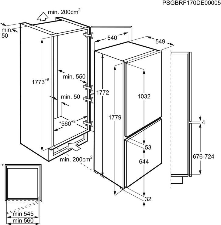Įmontuojamas šaldytuvas Electrolux LNT3LF18S