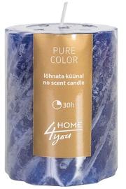 Home4you Candle Pure Colour D6.8xH9.5cm Blue