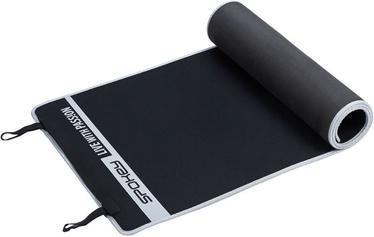 Fitneso kilimėlis Flaxmat V 180x60cm black/grey