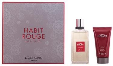 Guerlain Habit Rouge 100ml EDT + 75ml Shower Gel