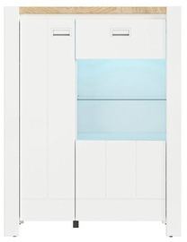 Black Red White Dreviso Cabinet White Glass 95x124x41.5cm