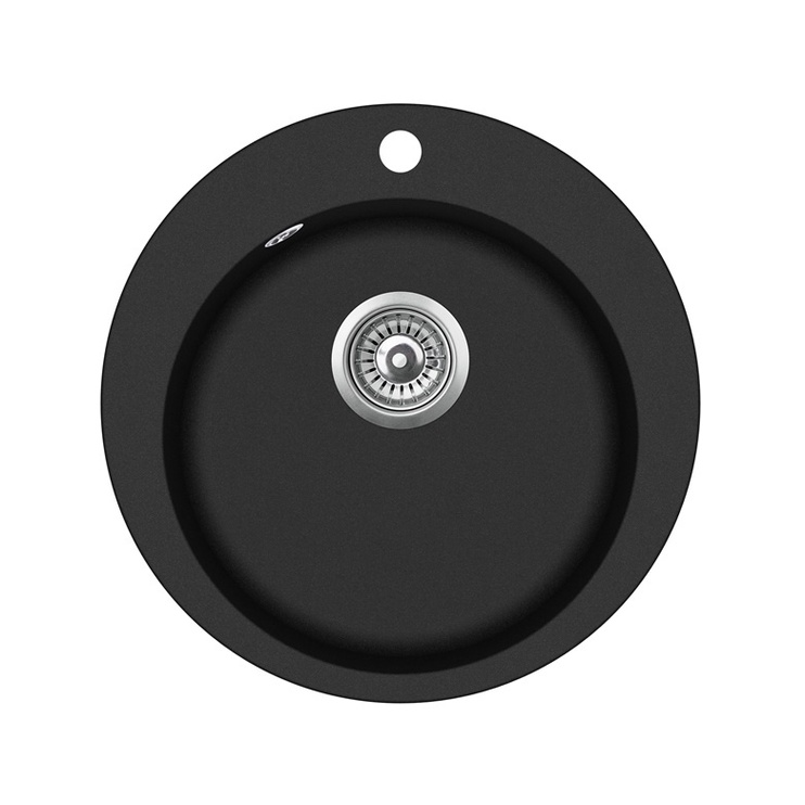 Aquasanita Sink Clarus SR100 Black 505x450mm