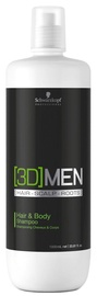 Šampoon Schwarzkopf 3DMEN Hair & Body, 1000 ml
