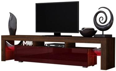TV-laud Pro Meble Milano 200 Walnut/Red, 2000x350x450 mm