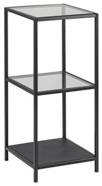 Plaukts Home4you Seaford Glass Black, 35x37x82.5 cm