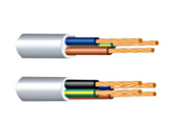 Elektros instaliacijos kabelis Lietkabelis BVV-LL/OMYŽO, 3 x 1 mm²