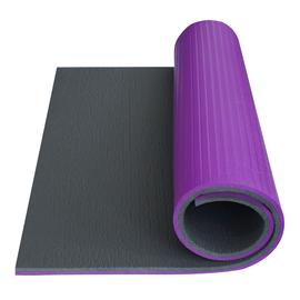 Fitnesa un jogas paklājs Yate Fitness Super Elastic, pelēka/violeta, 95 cm x 612 cm x 14 mm