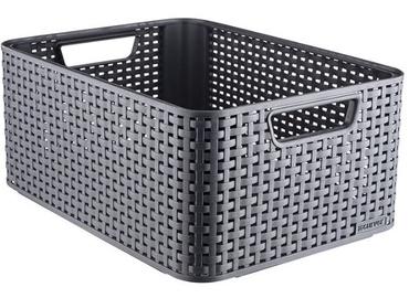 Curver Rattan Style Box L Dark Grey