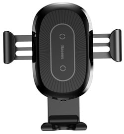Baseus Heukji Gravity Car Holder With Qi Charger Black