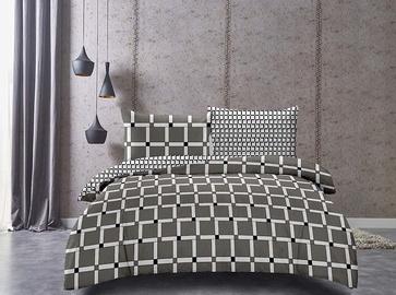 Gultas veļas komplekts DecoKing Hypnosis, brūna/balta/melna, 200x200/50x75 cm